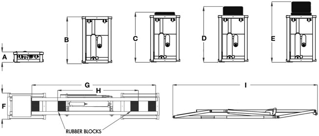 QuickJack Garage Lift Dimensions