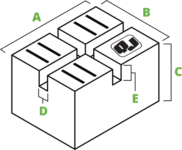 Pinch-weld block spec diagram